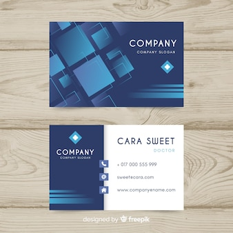 Professional business card concept for hospital or doctor