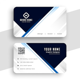 Professional business card design geometric lines style