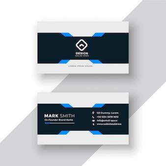 Professional business card elegant template