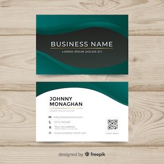 Профессиональная визитная карточка в абстрактном дизайне