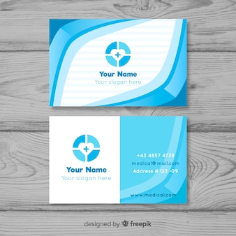 Professional business card in medical style