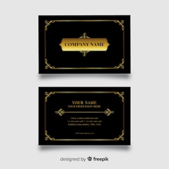 Professional business card template in elegant design