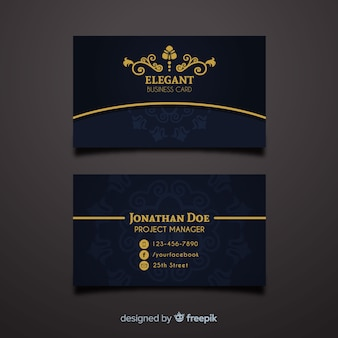 Business card vectors photos and psd files free download professional business card template in elegant style cheaphphosting Gallery