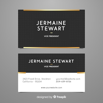 Professional business card template in elegant style