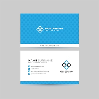 Professional business card  template set