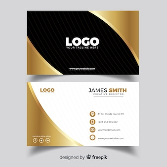 Professional business card template with elegance