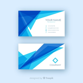 Professional business card template with geometric shapes