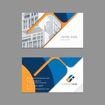 Professional business card template with photo