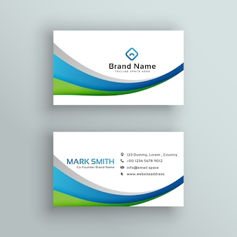 Professional business card vector design