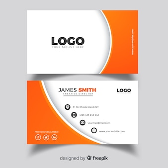 Professional business card with abstract shapes