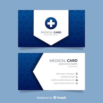 Профессиональная визитная карточка с медицинской концепцией
