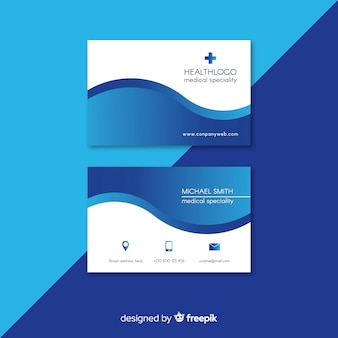Biglietto da visita professionale con concetto medico