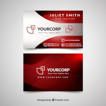 Professional business card with modern style