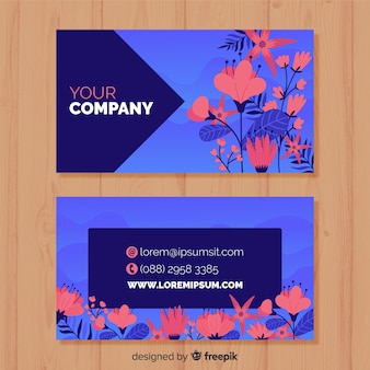 Professional business card with nature concept