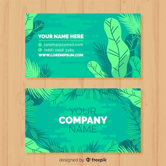 Professional business card with nature design