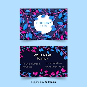 Professional business card with nature or eco design