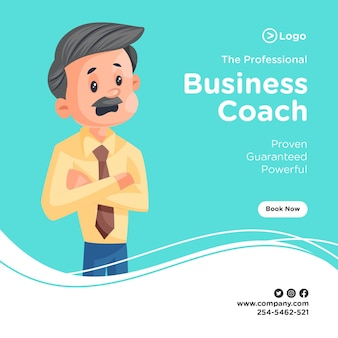 혼란 스 러 워 사업가와 전문 비즈니스 코치 배너 디자인