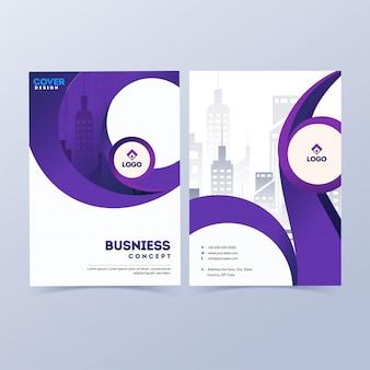 プロのビジネスカバーデザイン。