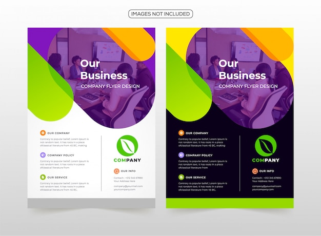 Professional business flyer design