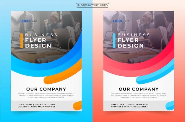 Профессиональный бизнес флаер дизайн