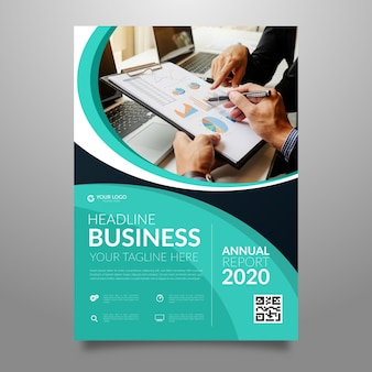 Professional business flyer with photo