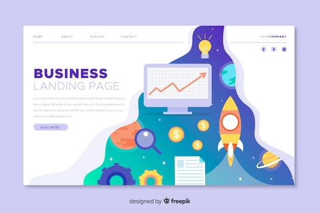 Профессиональная бизнес-целевая страница