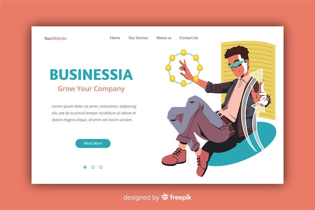 Professional business landing page