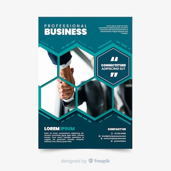 Professional business mosaic flyer template