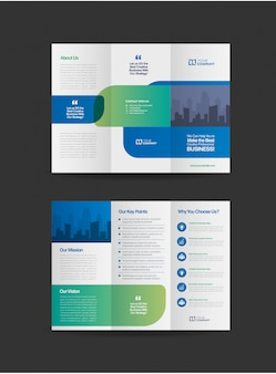 Professional business tri-fold brochure