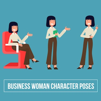 Professional Business Woman Character Poses