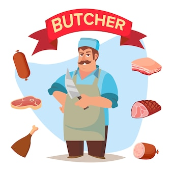 Professional butcher