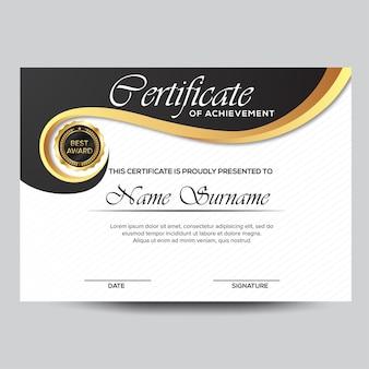 Professional  certificate of achievement template design