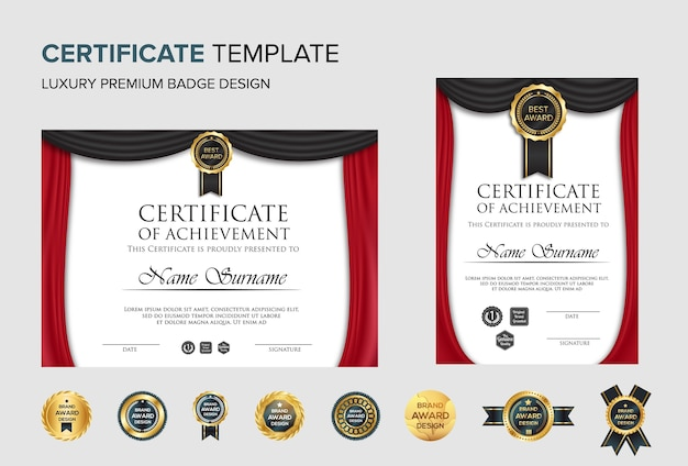 Professional certificate background template
