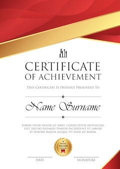 Professional certificate bakcground template luxury vector