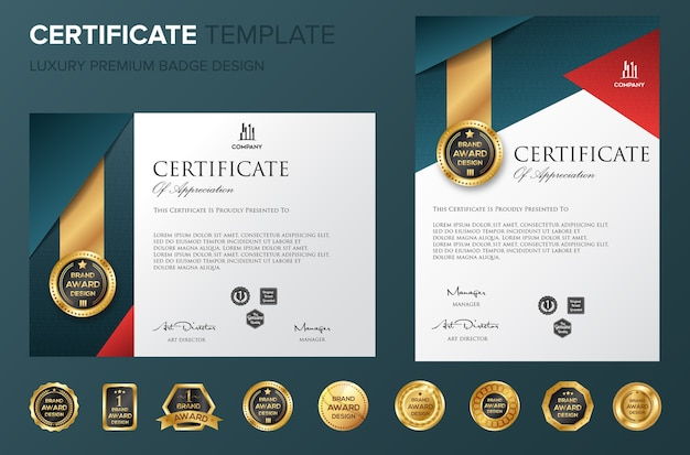 Professional certificate template bakcground luxury vector
