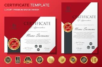 Professional Certificate template bakcground luxury vector
