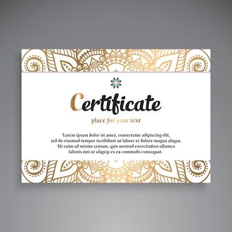Professional certificate template design