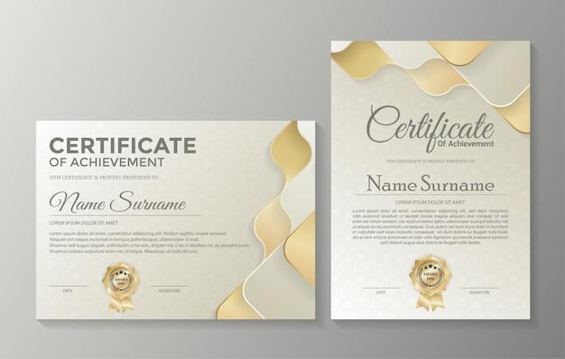 Professional certificate template diploma award design