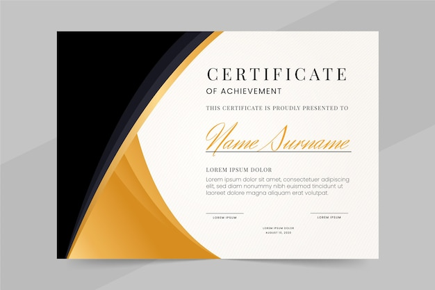 Professional certificate template