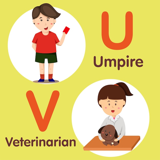 Professional character umpire and veterinarian