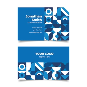 Professional classic blue business card template