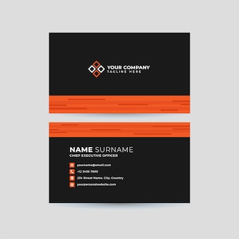 Professional clean business card template
