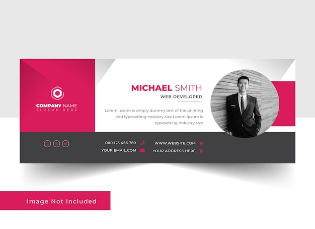 Professional and clean email signature template design 2022