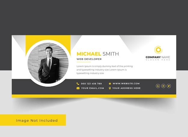 Professional and clean email signature template design