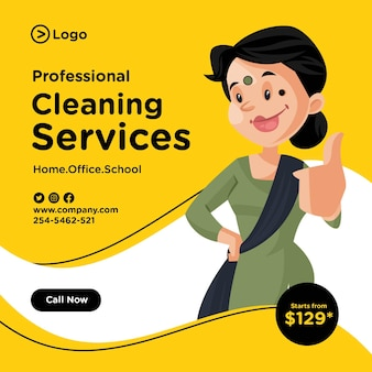 Professional cleaning services banner design
