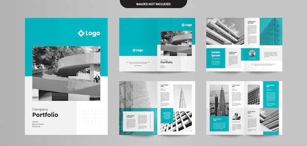 Professional company brochure pages design template