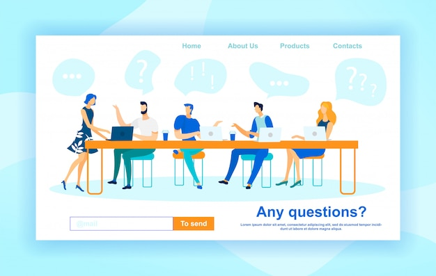 Professional consulting landing page template