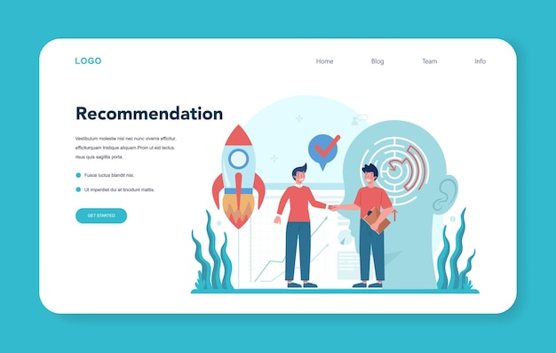 Профессиональный консалтинг веб-баннер или целевая страница. исследования и рекомендации.