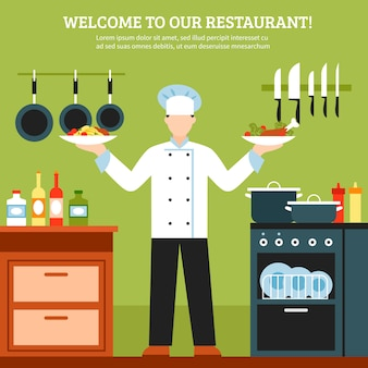 전문 요리 디자인 구성