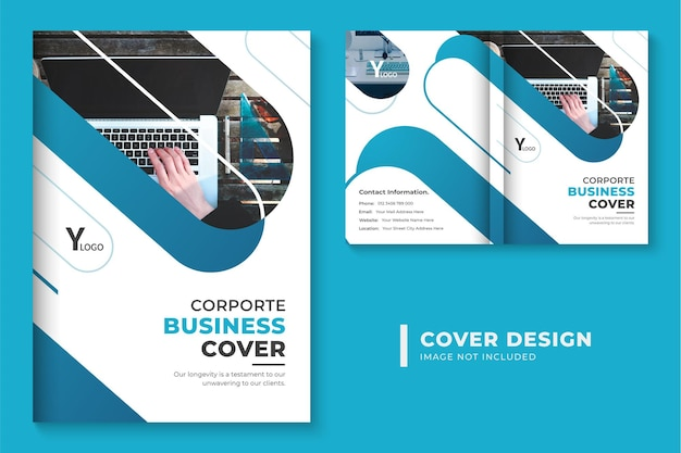 Professional corporate brochure cover design layout abstract business book cover design